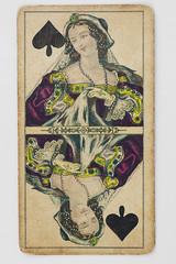 Pik_Dame_Spielkarter sehr alt