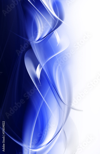 Abstract blue and white waves