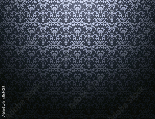 dark floral pattern wallpaper - 51654089