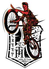 Creepy biker