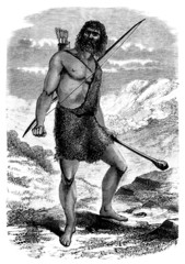 Prehistory Stone-Age - Portrait : Hunter