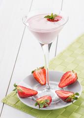 Frappè alla fragola - Strawberry milkshake