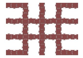 Tarak puzzle vektör tasarımı