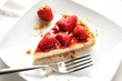 Cheesecake with strawberries - Cheesecake con fragole
