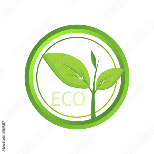 Vector eco icon