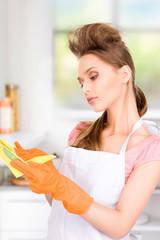 housewife washing dish