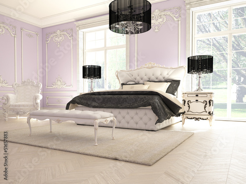 lila luxus schlafzimmer von 2mmedia lizenzfreies foto. Black Bedroom Furniture Sets. Home Design Ideas