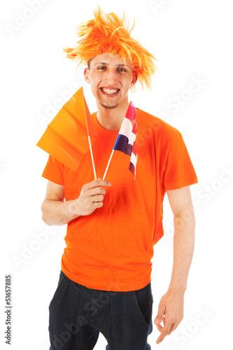 Sport fan in Holland