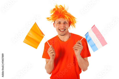 Sport fan in Holland