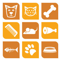 Collection of pet icons