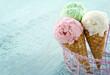 Three ice cream cones - 51659019