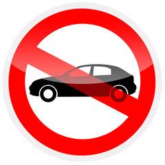 Sinal de proibição - Proibido automóveis
