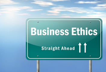 "Highway Signpost ""Business Ethics"""