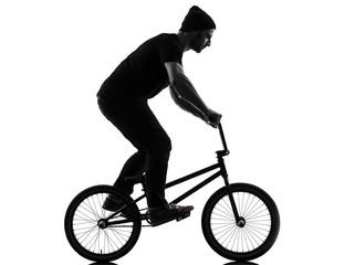man bmx acrobatic figure silhouette © snaptitude