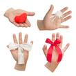 Set mit Händen - Symbole