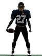 quarterback american football player man silhouette