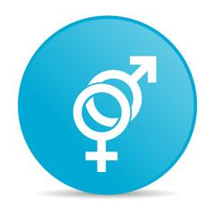 sex blue circle web glossy icon
