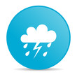 weather forecast blue circle web glossy icon