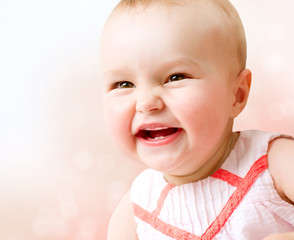 Baby. Cute Smiling Baby Girl