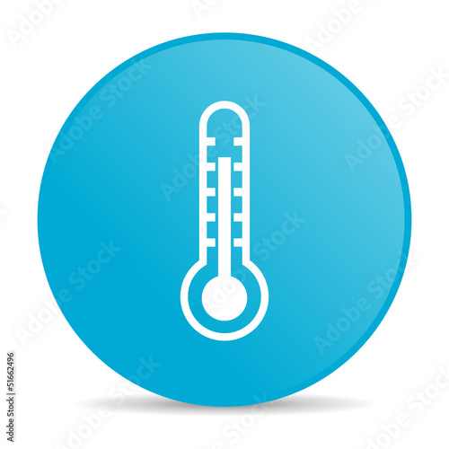 thermometer blue circle web glossy icon