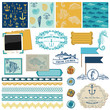 Scrapbook Design Elements - Nautical Sea Theme
