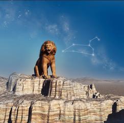 Representación del signo zodiacal de Leo
