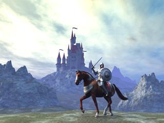 Caballero y castillo
