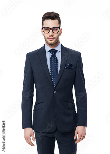 Portrait of handsome businessman