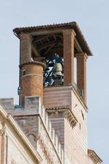 Perugia, Palazzo dei Priori. Torre municipale