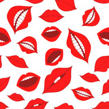 Female lips seamless pattern