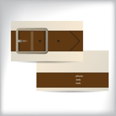 Cool waistband theme business card