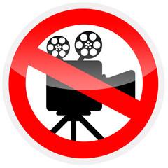 Sinal de proibição - Proibido fazer gravações