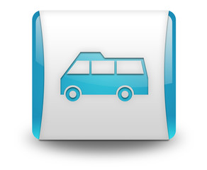 "Light Blue 3D Effect Icon ""Van"""