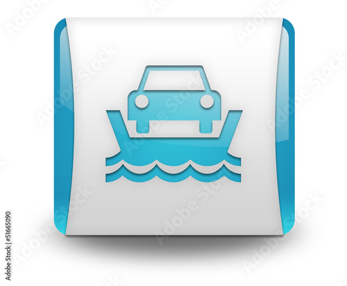 "Light Blue 3D Effect Icon ""Ferry"""
