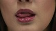 HD1080i Extreme close up of woman's lips