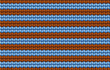 Vector background. Knitted fabric with brown and blue stripes