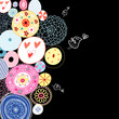 Decorative background from circles