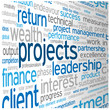 """PROJECTS"" Tag Cloud (teamwork management business success)"
