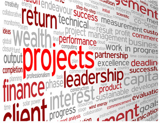 """PROJECTS"" Tag Cloud (teamwork management process improvement)"