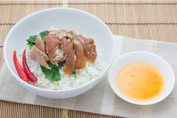 Braised Pork with Mei Gan Cai on plain rice