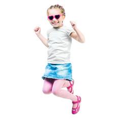 Cute little girl jump