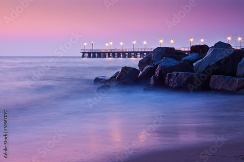Fototapety, obrazy : Autumn by the Sea, autumn landscape, cliff orlowo, Gdynia