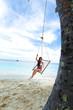 Womain in beach hammock