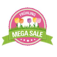 Button: Frühling Mega Sale