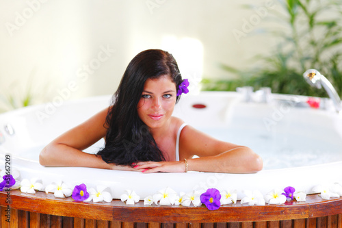 Pretty woman relaxing