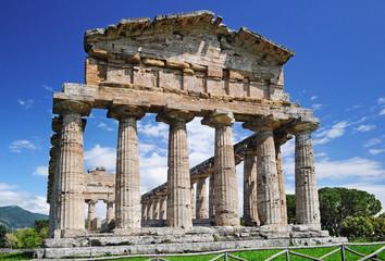 Tempelruine in Paestum, Italien