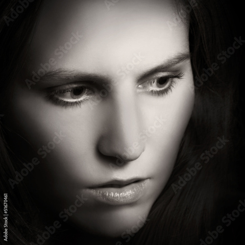 Conserned Woman Portrait