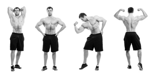 Image of young bodybuilder in different poses