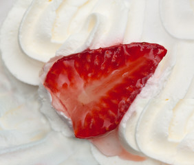 Cream with strawberry