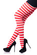 Woman with long legs and stockings